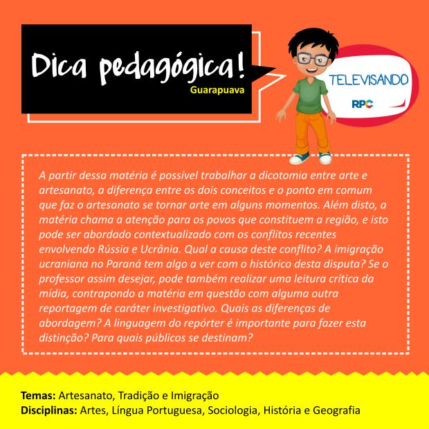 Dicas Pedagógicas - Guarapuava (SITE) (Foto: RPC)