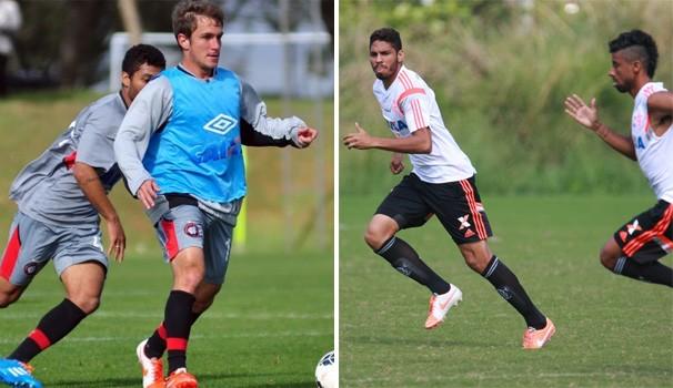 Futebol Atlético-PR x Flamengo  (Foto: Gustavo Oliveira/ Site oficial do CAP / Gilvan de Souza / Flamengo)