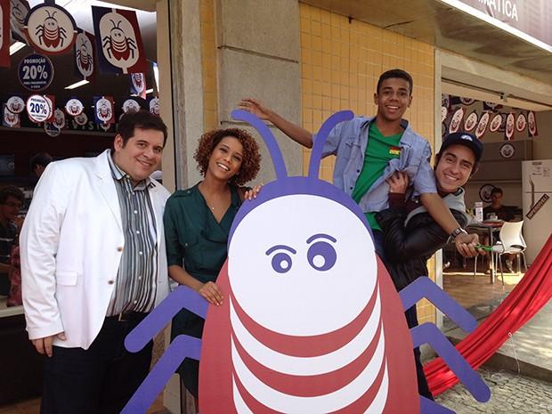 Haroldo Barata, Verônica e Vicente Monteiro, e Ernesto Avelar (Foto: Edna Bentes)