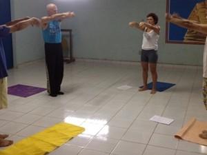 Prática milenar é oferecida de graça para comunidade de Porto Velho (Foto: Larissa Matarésio/G1)