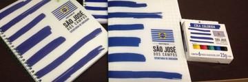 Prefeitura de S. José exclui 83 itens em novo kit escolar (Natália Teodoro/TV Vanguarda)