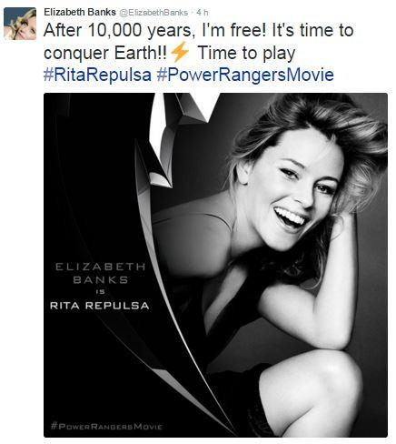 Elizabeth Banks sobre personagem de Rita repulsa (Foto: Reprodução / Twitter)
