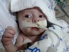 Bebê que precisa de coração no PR tem melhora e sai do coma induzido