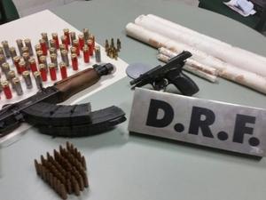 Quadrilha foi presa quando se preparava para assaltar uma agência (Foto: SSPDS)