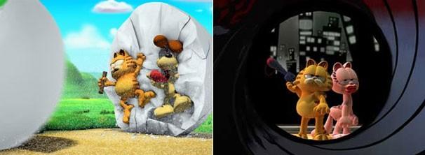 Para encontrar a lendária água da diversão, Garfield e Odie partem em uma grande aventura (Foto: Divulgação / Reprodução)