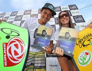 Roberto Bruno e Renata Úrsula faturam título de Bodyboard Cearense  (Foto: Divulgação/Lima Jr.)