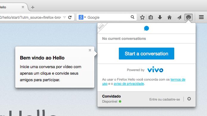 Clique para iniciar uma nova conversa (Foto: Reprodução/Helito Bijora)