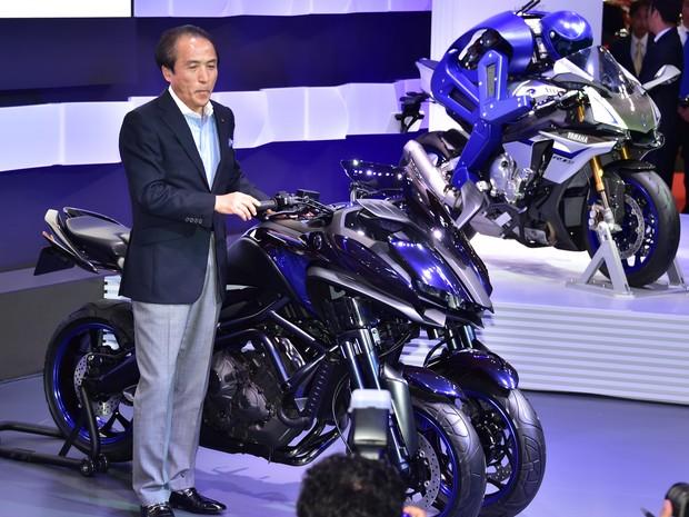 Yamaha MWT-9 é novo triciclo com motor de 3 cilindros (Foto: AFP PHOTO / Yoshikazu TSUNO)