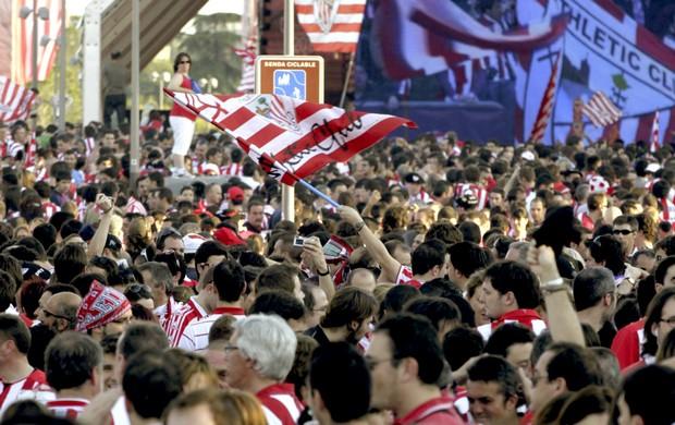 Torcida Athletic Bilbao Copa do Rei (Foto: EFE)