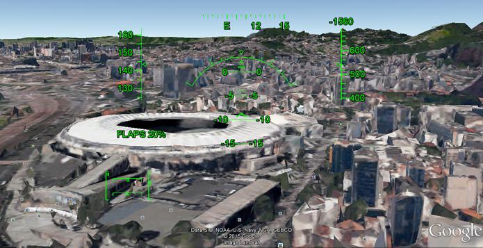 Rio de Janeiro é uma das cidades brasileiras que podem ser vistas em 3D no simulador (Foto: Reprodução/Google)