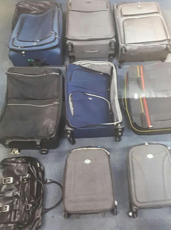 As nove malas apreendidas no bunker de Geddel Vieira Lima (Foto: Reprodução)