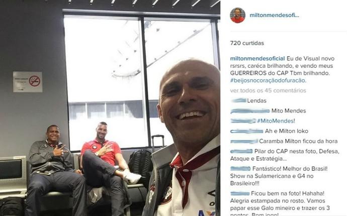 Milton Mendes Atlético-PR (Foto: Reprodução/ Instagram)