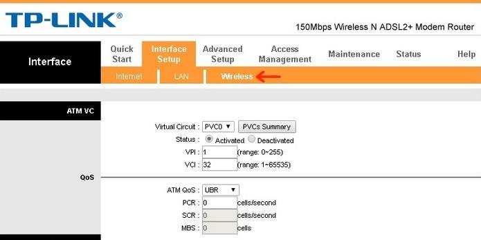 Destaque para aba de configurações Wireless (Foto: Reprodução/Raquel Freire)