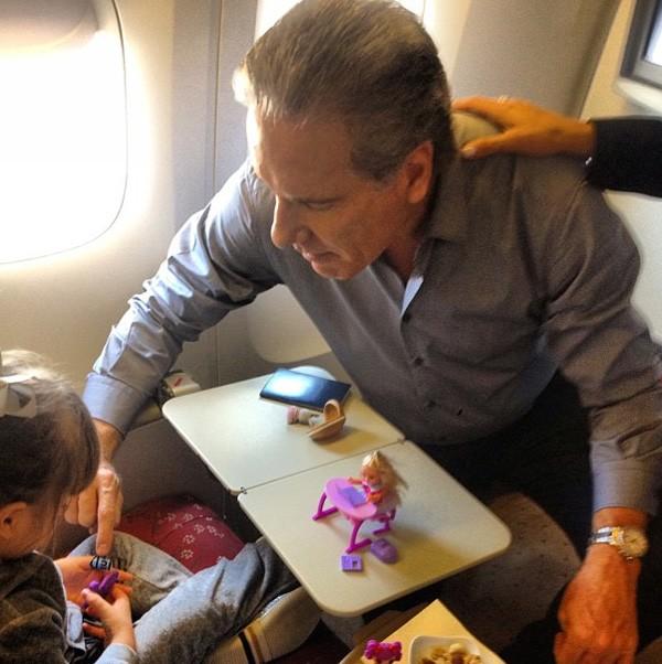 Roberto Justus com a filha Rafaella (Foto: Reprodução)