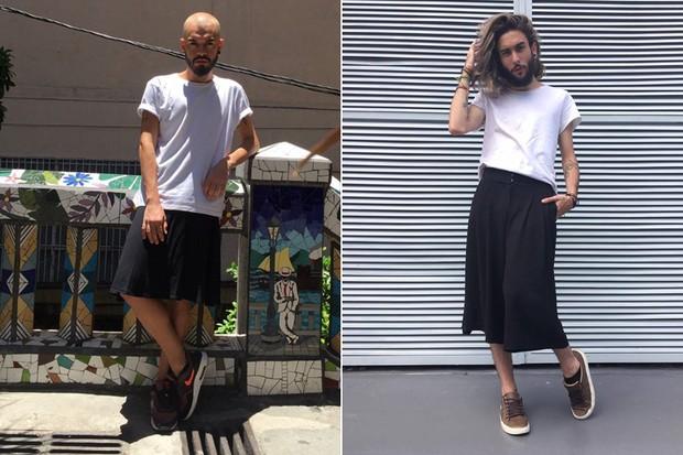 Caio Moreira, de 22 anos, e Matheus Maguelli, de 21, são adeptos das saias e falam sobre suas preferências na hora de se vestir. (Arquivo Pessoal) (Foto: Arquivo Pessoal /Divulgação)