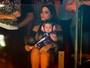 Grávida, Thais Fersoza leva a filha para gravação de DVD de Michel Teló