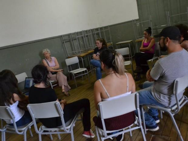 Alunos ocupam Escola Estadual David Campista em Poços de Caldas (MG). (Foto: Grêmio Estudantil Carolina Maria de Jesus/Divulgação)