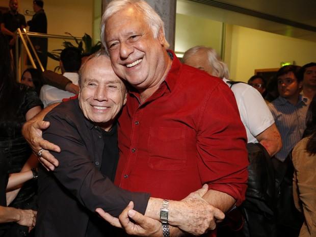 Stênio Garcia e Antônio Fagundes em estreia de peça no Centro do Rio (Foto: Marcello Sá Barretto e Felipe Assunção/ Ag. News)