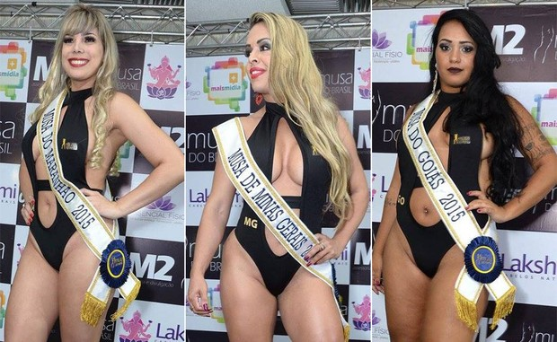 Candidatas Musa do Brasil: Cris Souza, Maranhão | Ellida Neves, Minas Gerais | Eloisa Rodrigues, Goiás (Foto: Divulgação)