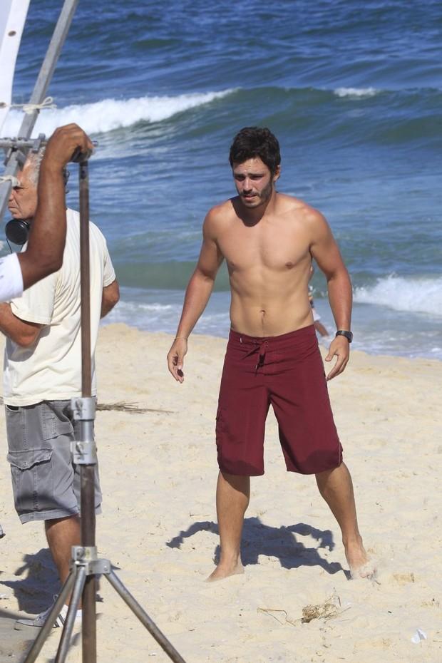 Thiago Rodrigues em gravação de Além do Horizonte (Foto: Delson Silva / AgNews)