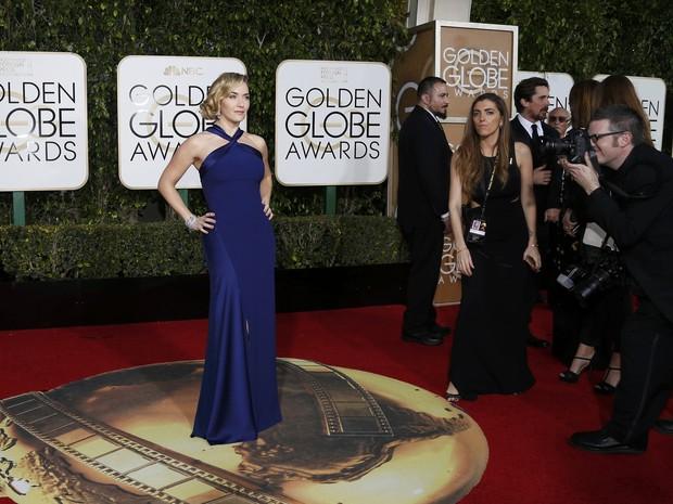 Kate Winslett em premiação em Los Angeles, nos Estados Unidos (Foto: Mario Anzuoni/ Reuters)