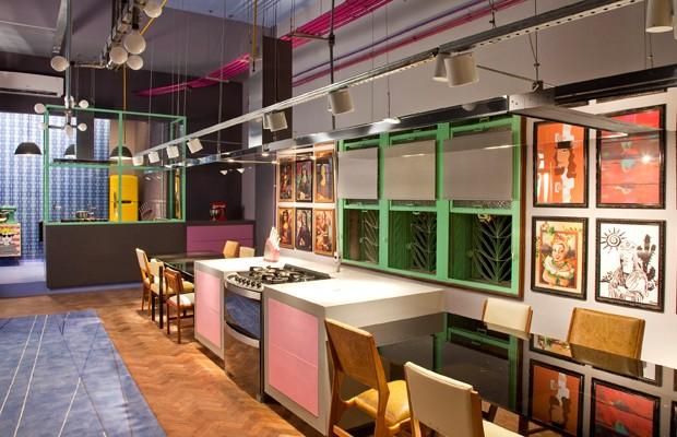 O Lounge Gourmet de Gustavo Calazans, na Casa Cor (Foto: Divulgação)