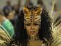 FOTOS: rainha de bateria vem de 'fera ferida' (Alexandre Durão/G1)