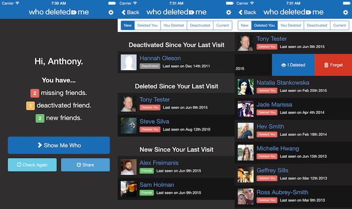 Descubra quem o deletou do Facebook com o Who Deleted Me on Facebook (Foto: Divulgação/AppStore)