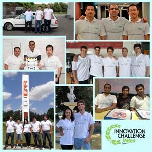 Foto divulgada pela Valeo mostra as sete equipes finalistas: 22 homens e duas mulheres (Foto: Divulgação/Grupo Valeo)