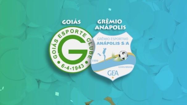 Goiás e Grêmio Anápolis (Foto: TV Anhanguera)