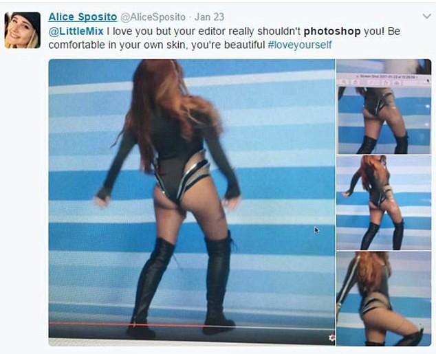 Fãs ficam indignados com excesso de  Photoshop em clipe da banda pop Little Mix  (Foto: Reprodução/Instagram)