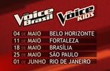 Seletivas para 'The Voice Brasil' e 'The Voice Kids' em Belo Horizonte recebem inscrições até 4 de maio