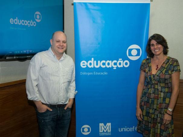 Anna Penido, diretora do Instituto Inspirare, e Denis Mizne, diretor da Fundação Lemann   (Foto: Divulgação/Kiko Cabral)