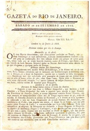 Gazeta do Rio de Janeiro (Foto: Reprodução)