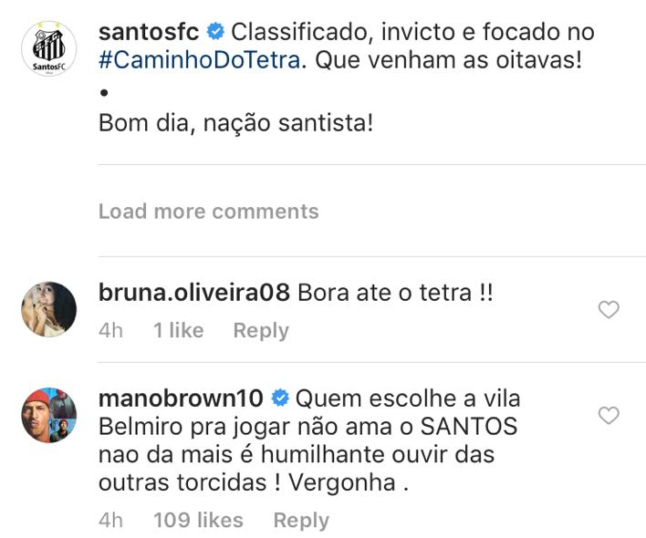 Mano Brown corneta diretoria do Santos