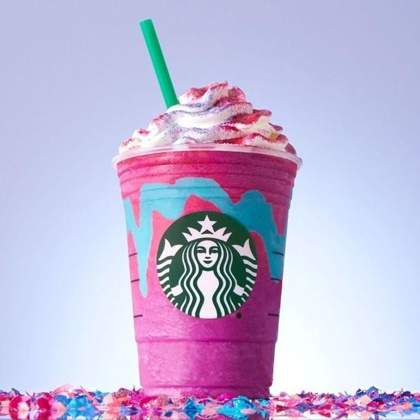 Unicórnios inspiram novo frappuccino do Starbucks americano (Foto: Reprodução/Instagram)