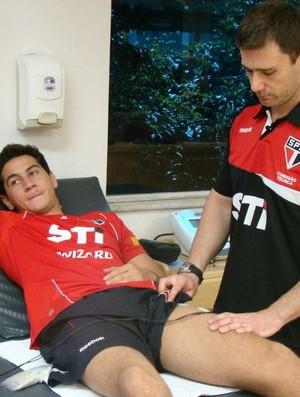 Ganso tratamento Reffis São Paulo (Foto: Divulgação / São Paulo FC)