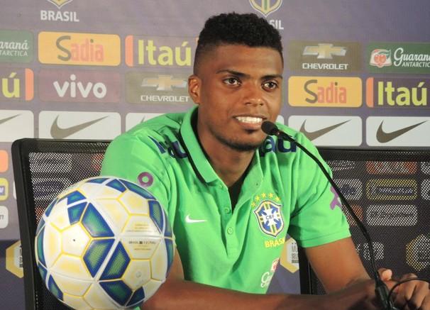 Jeromel, zagueiro do Atlético-MG, foi convocado para o lugar de David Luiz (Foto: Alexandre Lozetti / reprodução GloboEsporte.com)