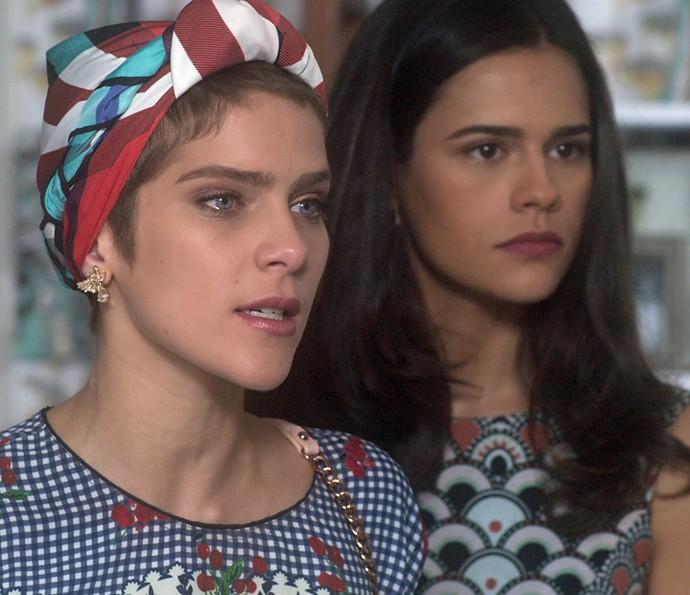 Letícia e Aline confrontam Jéssica (Foto: TV Globo)
