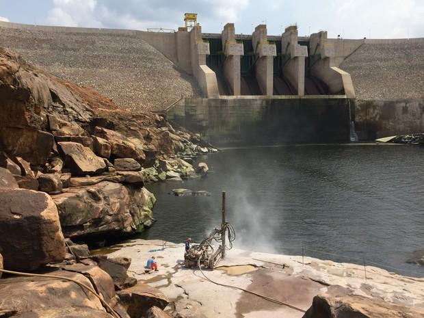 Hdrelétrica Teles Pires fica no Rio Teles Pires, na divisa entre os estados de Mato Grosso e Pará.  (Foto: Usina Hidrelétrica Teles Pires/Divulgação)