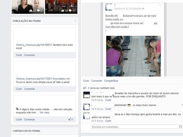 Adolescente foi hostilizado em relação ao se comentário (Foto: Reprodução facebook)