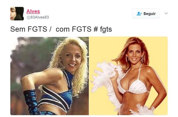 Saques do FGTS rendem memes com famosos (Foto: Reprodução/Twitter)