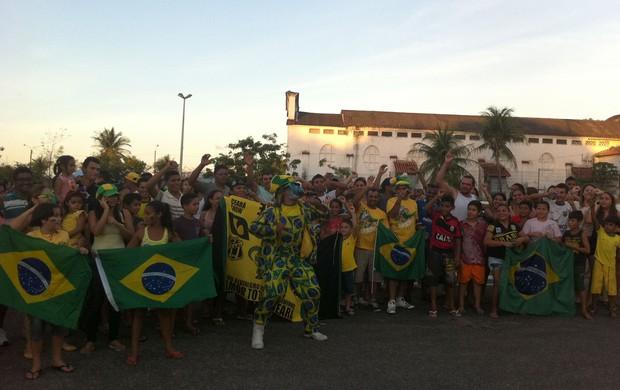 torcedores seleção hotel fazenda Fortaleza (Foto: Richard Souza)