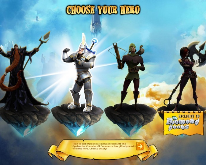 Em The Mighty Quest For Epic Loot você poderá escolher entre 4 personagens diferentes (Foto: Reprodução/Daniel Ribeiro)