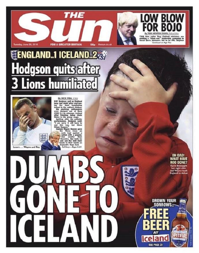 BLOG: Tabloide estampa filho de Rooney em capa após derrota e revolta a mãe