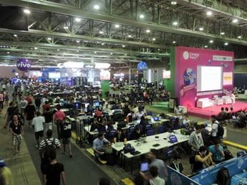 Em 2014, Campus Party Recife aconteceu no Centro de Convenções (Foto: Katherine Coutinho / G1)