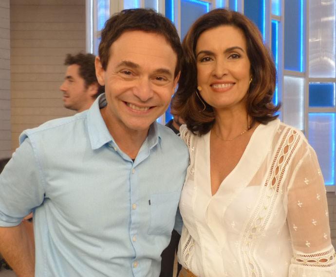 Fátima e Jairo Bouer (Foto: Viviane Figueiredo Neto/ Gshow)
