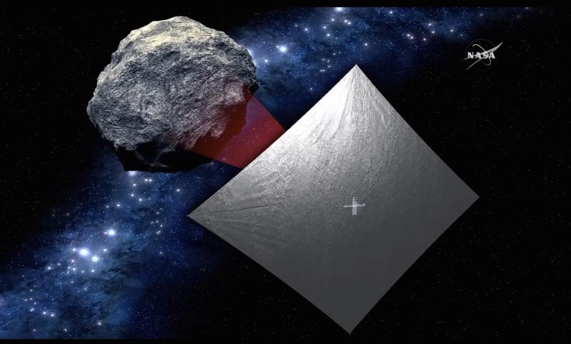 Imagem da sonda que estudará asteroides também foi liberada pela agência espacial americana (Foto: Divulgação/Nasa)
