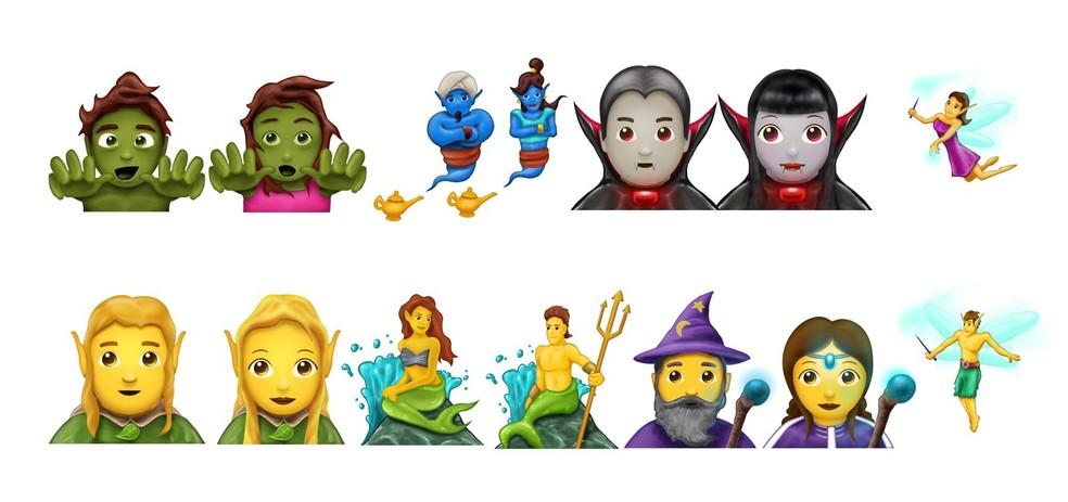 Usuários agora podem enviar emojis de zumbis, vampiros, duendes e mais (Foto: Reprodução/Emojipedia)