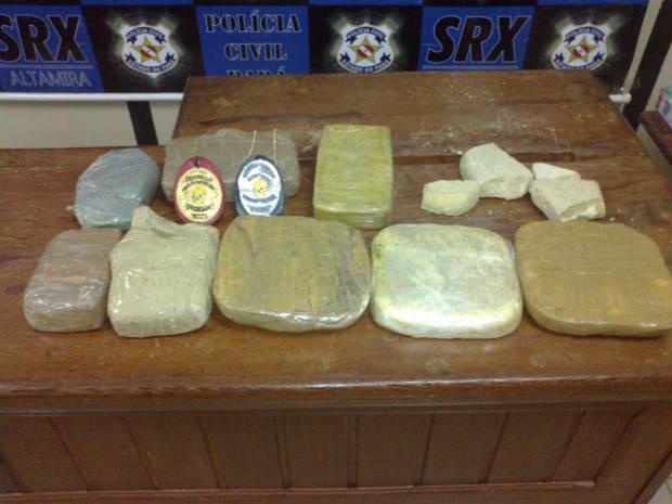 Droga apreendida em Altamira seria vendida na região do Xingu (Foto: Divulgação/ Polícia Civil)